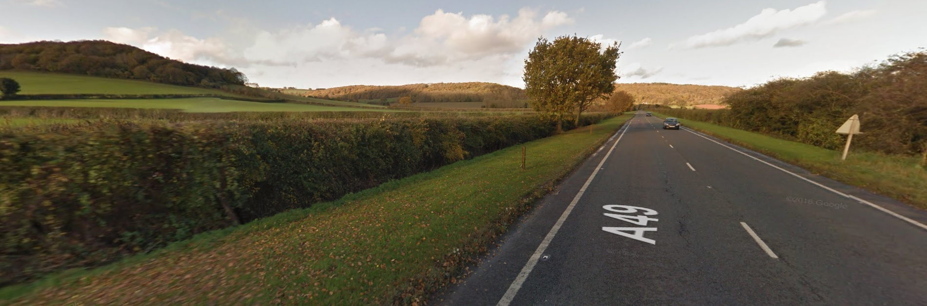 The A49 at Dinmore Hill. Picture: Google Maps