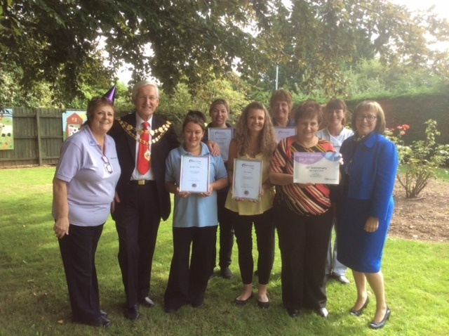 Staff, residents and families celebrate the tenth anniversary of Orchard House Care Home in Withington