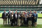 Ledbury Rugby Club players and supporters at Twickenham