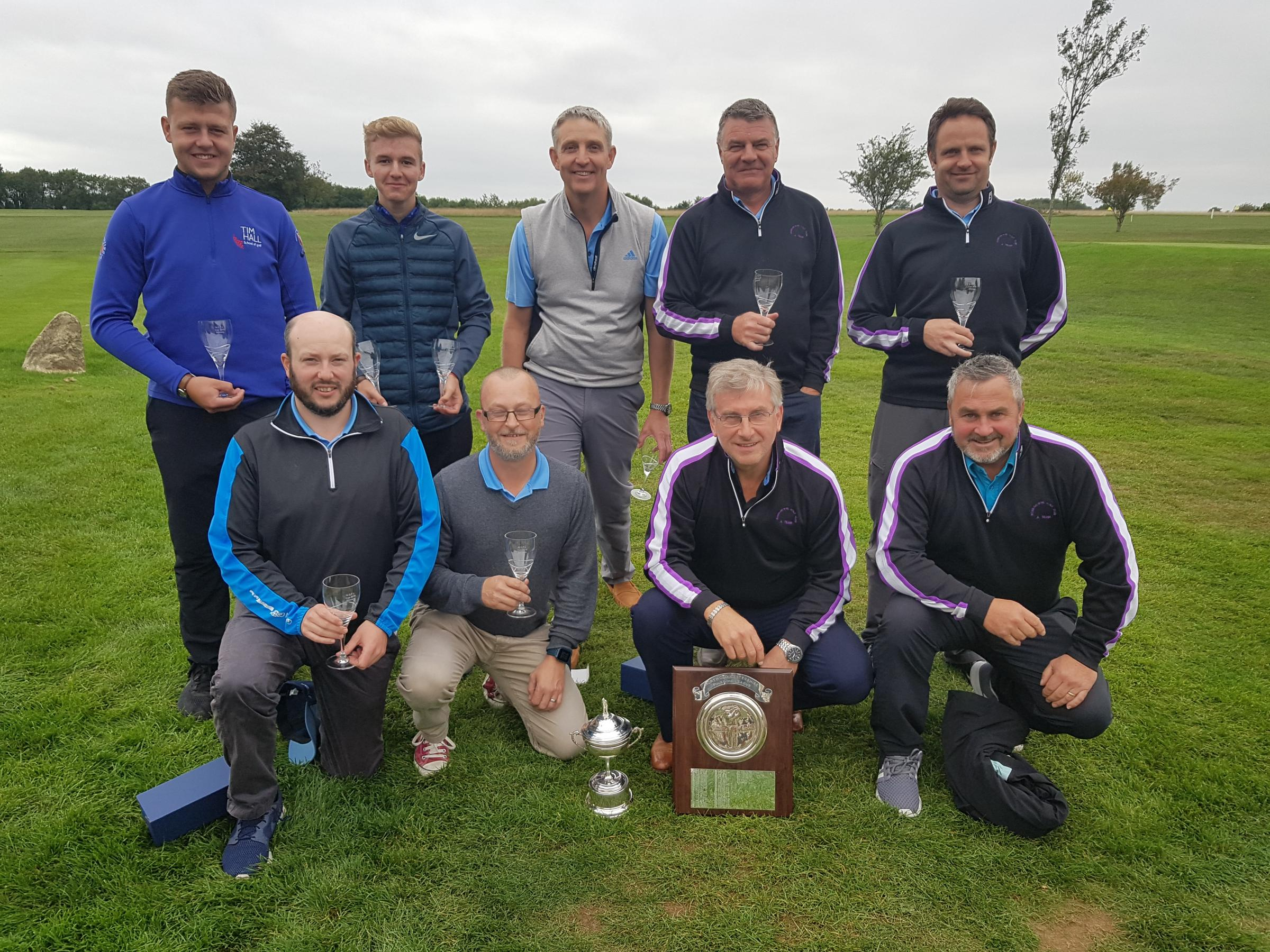 Ross Team winners of the 2018 North Glos Foursomes League Cup and from l to r are Back Row; Cam Haines, Harry Griffiths, Steve Price, Simon Mills & Front Row; Tim Wyatt, Robin Eckley, Neil Lancett and Alistair Watkins