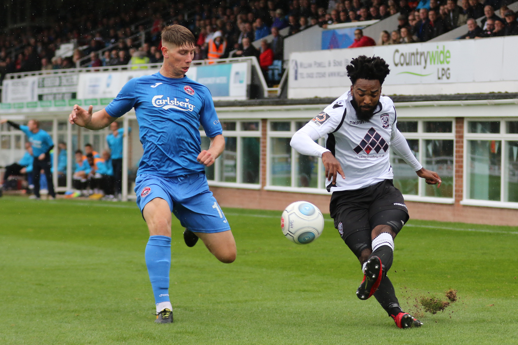 Marlon Jackson in action for Hereford FC. Picture: Steven Niblett/Hereford FC