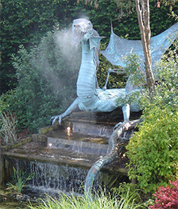 Hereford Times: Ralph Court Gardens Dragon Pool