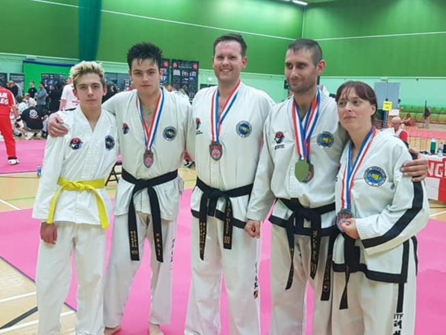 Hall Family TKD students who took part in the World United Martial Arts World Championships