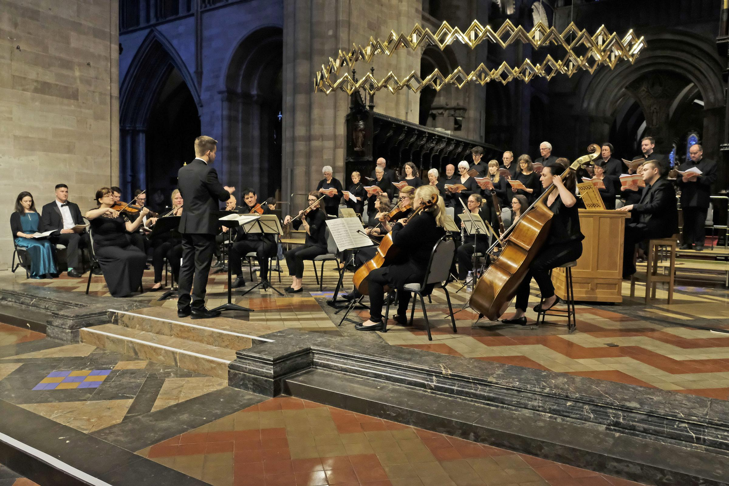 Hereford Chamber Choir performing in Hereford Cathedral