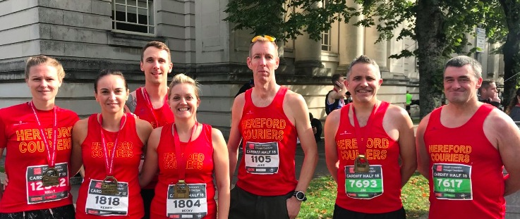 Hereford Couriers who competed in the Cardiff Half Marathon