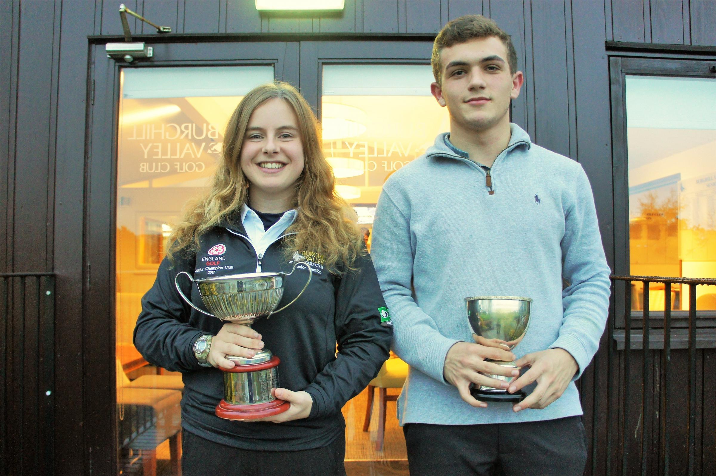 Winners at the golf Herefordshire Junior County Championships were Georgie Sockett and James Herdman