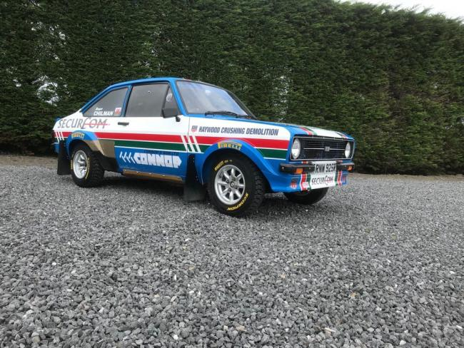Roger Chilman's Escort prior to being shipped to New Zealand ready for the Silver Fern Rally