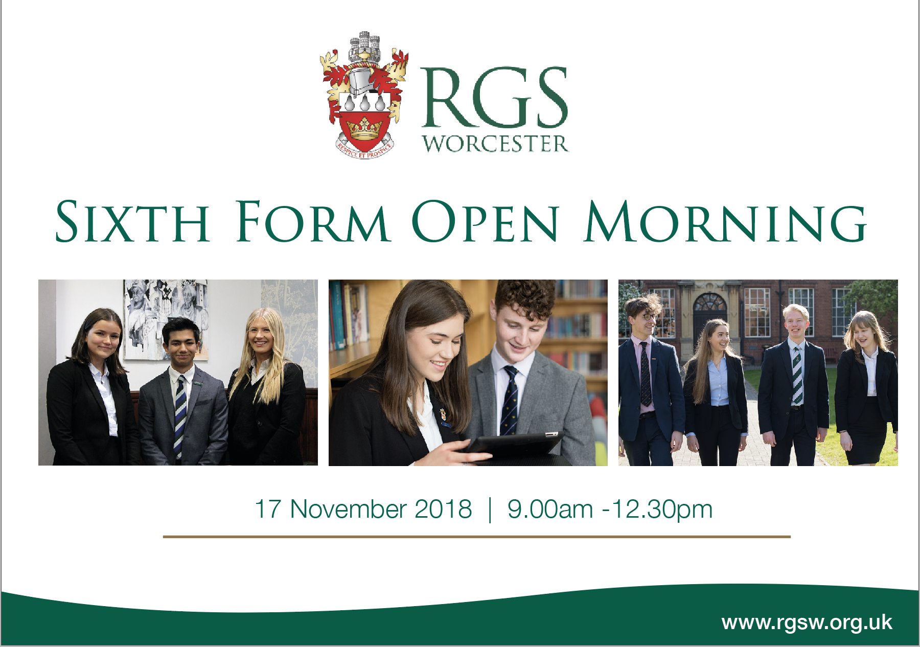 Sixth Form Open Morning at RGS Worcester