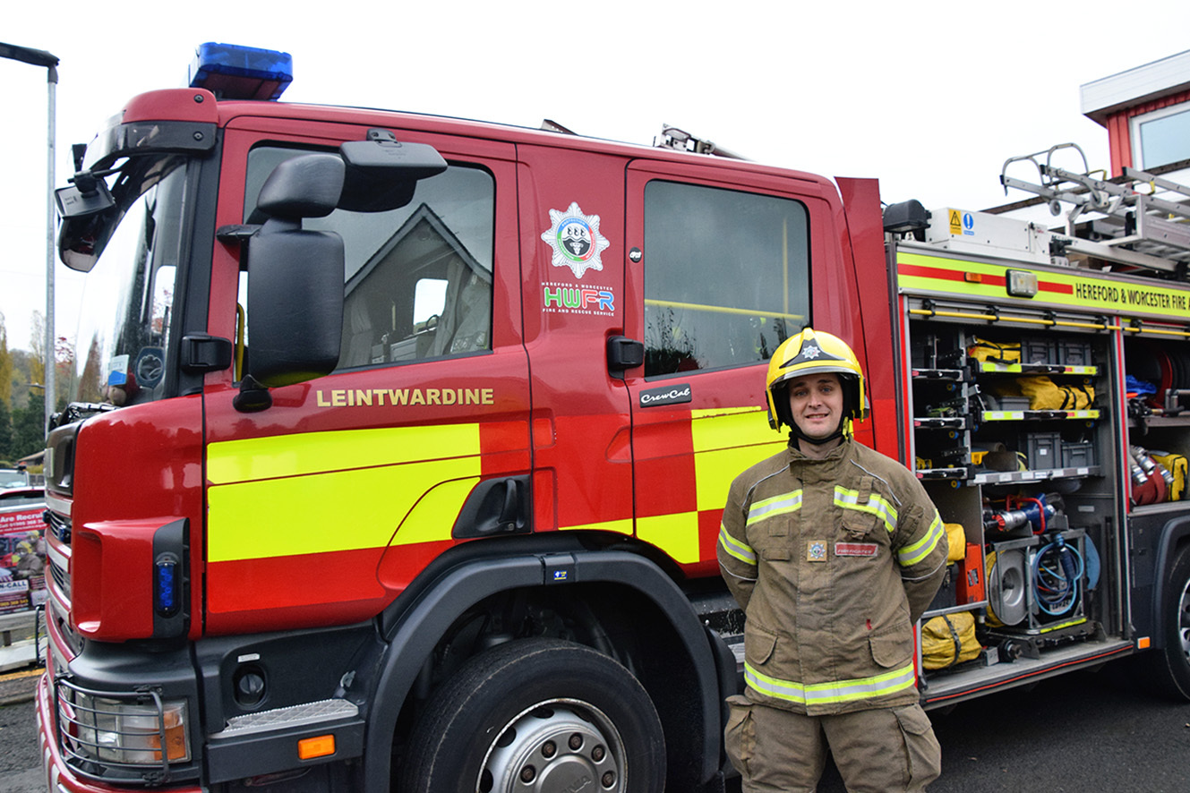 Firefighter Peter Murrary will feature on the BBC's Home Front Heroes on November 7.