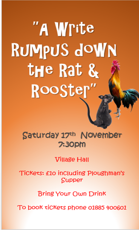 A Write Rumpus Down The Rat and Rooster