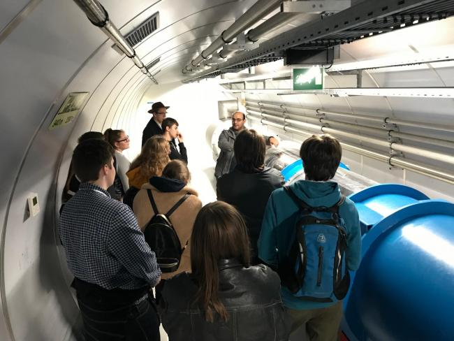 Students from The Hereford Academy on their tour around CERN