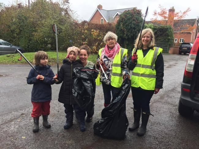 Some of the litter pickers on the day