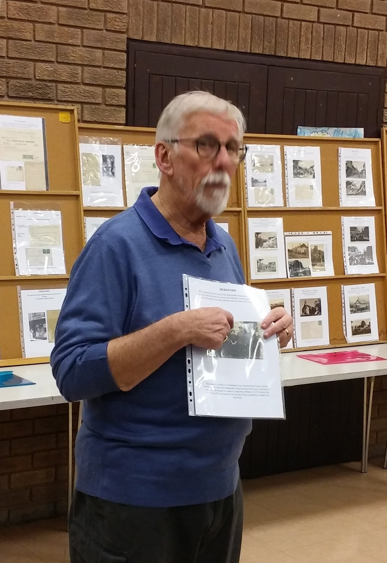 Frank Bennett gave a short display on the history of the postcard