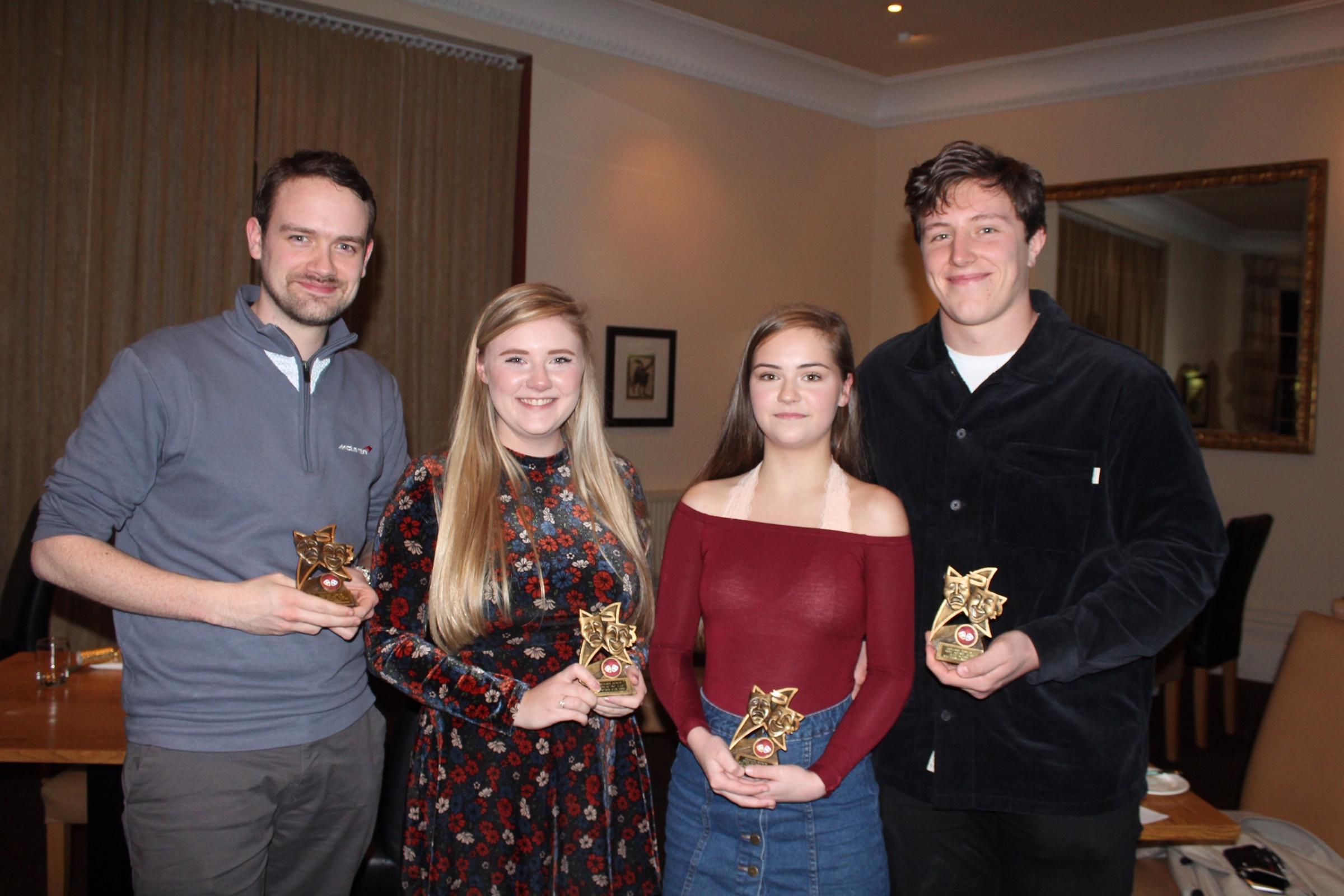 From left: Sam Morrish, Chloe Darrell, Becky Maggs-Pigott and Matthew Lawrence