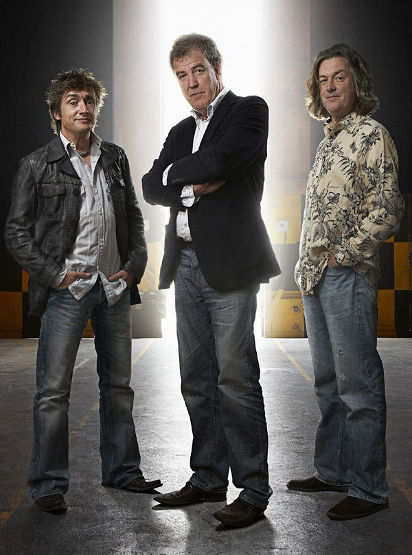 Top Gear presenters (l-r) Richard Hammond, Jeremy Clarkson and James May.