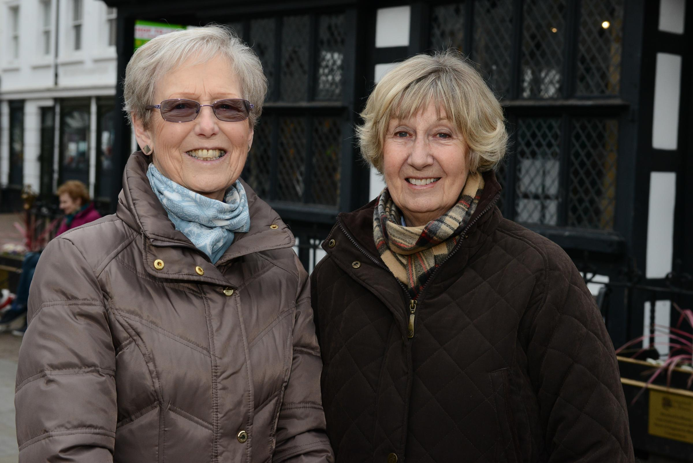 Hereford Times competition winners Barbara Passey & Elizabeth Roberts.
