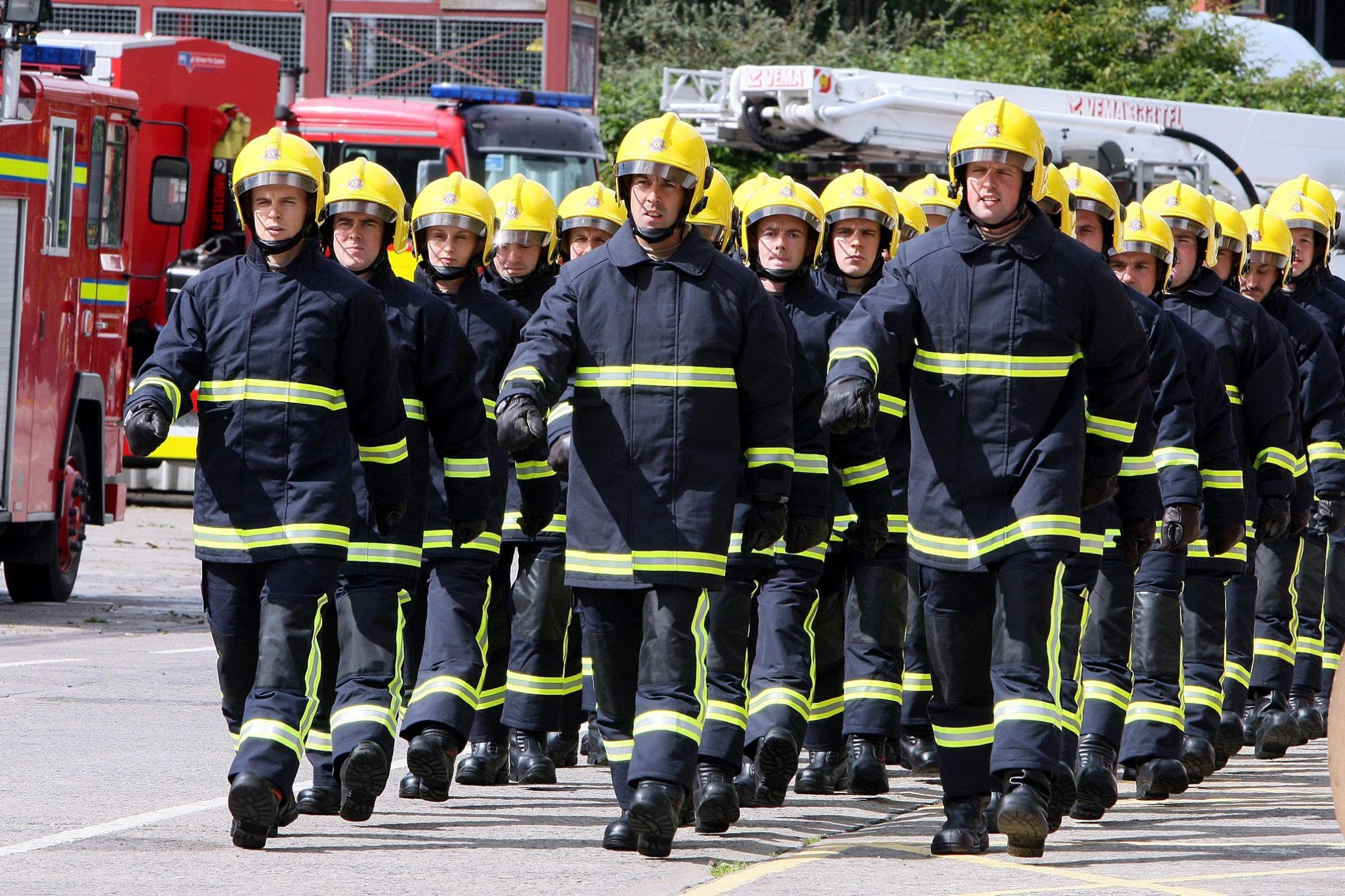 Fire fighters in Northern Ireland