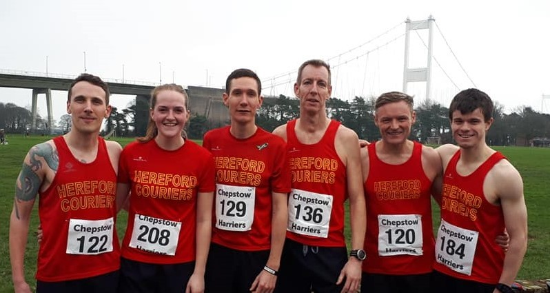Hereford Couriers members who took part in the Speedway 10k