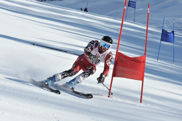 Colin Tucker in actiom during the FIS Alpine Masters World Cup