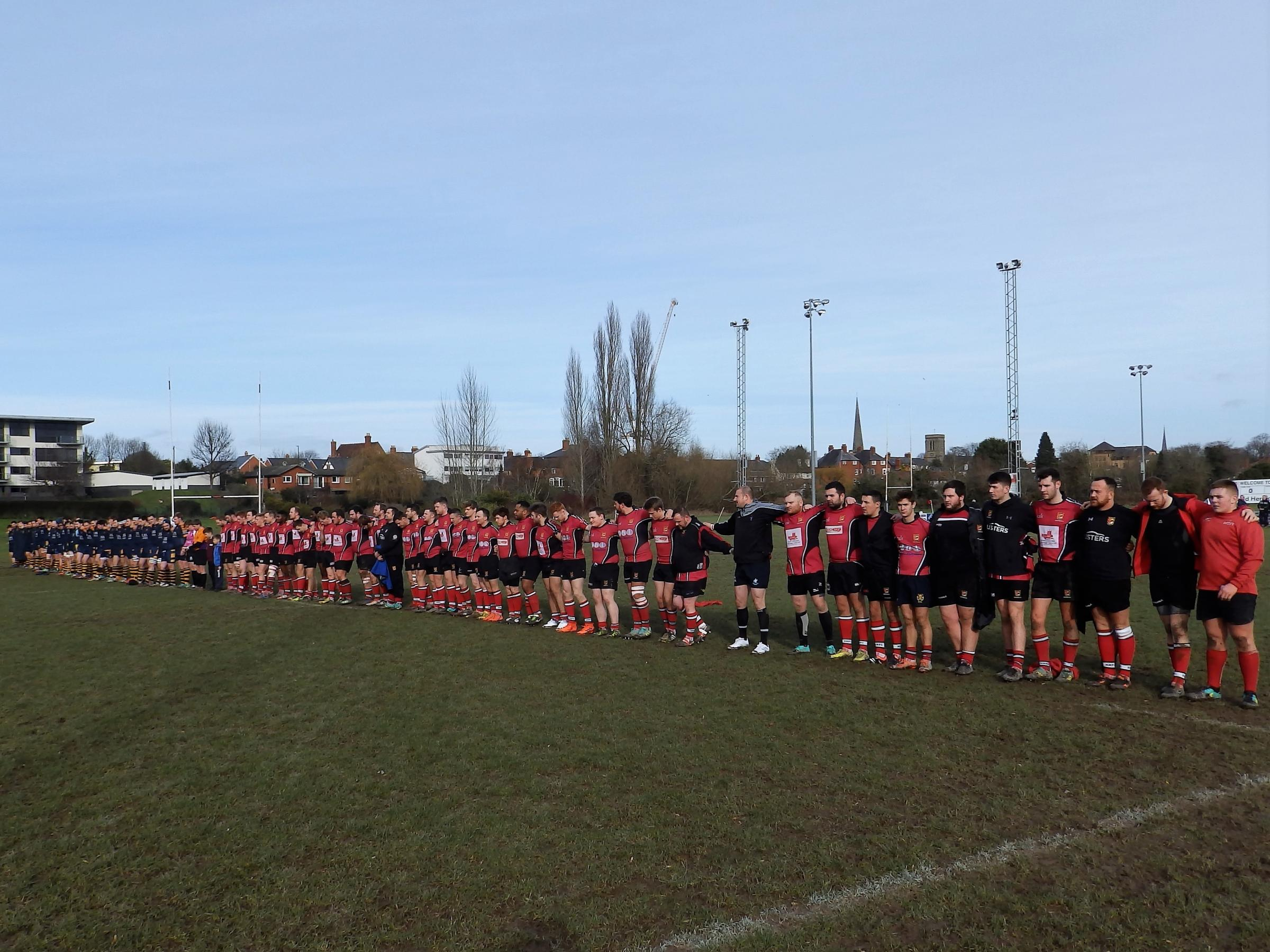 Hereford held a minute silence in memory of Club President, Roger James