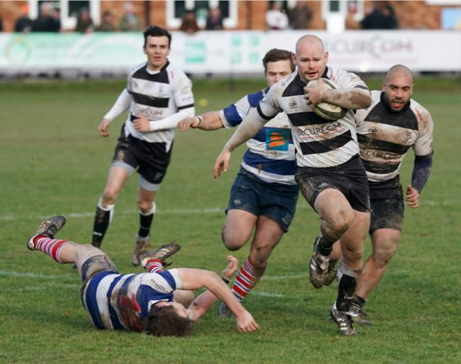 Alex Smith on the charge for Luctonians during their victory over Sheffield. Picture: Nigel Mee