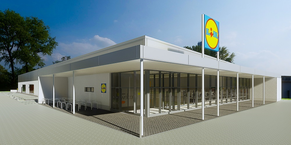 A computer image of what the Lidl store could look like in Ross-on-Wye. New plans have been submitted to Herefordshire Council.