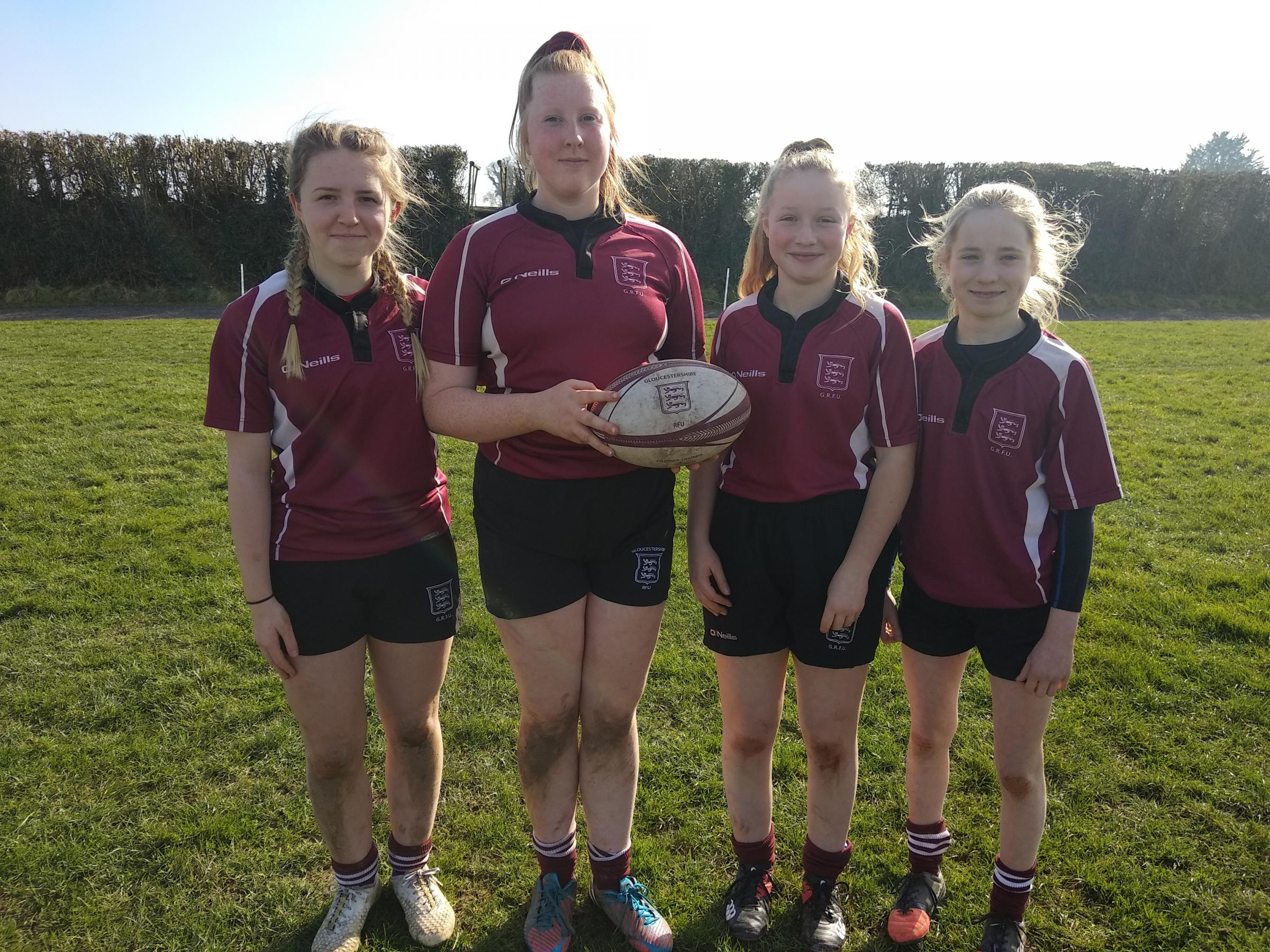 The John Kyrle High School pupils who have been selected to represent Gloucestershire County U15's rugby squad