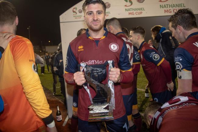 Joel Edwards won the Nathaniel MG Cup with Cardiff Met. Picture: Will Cheshire