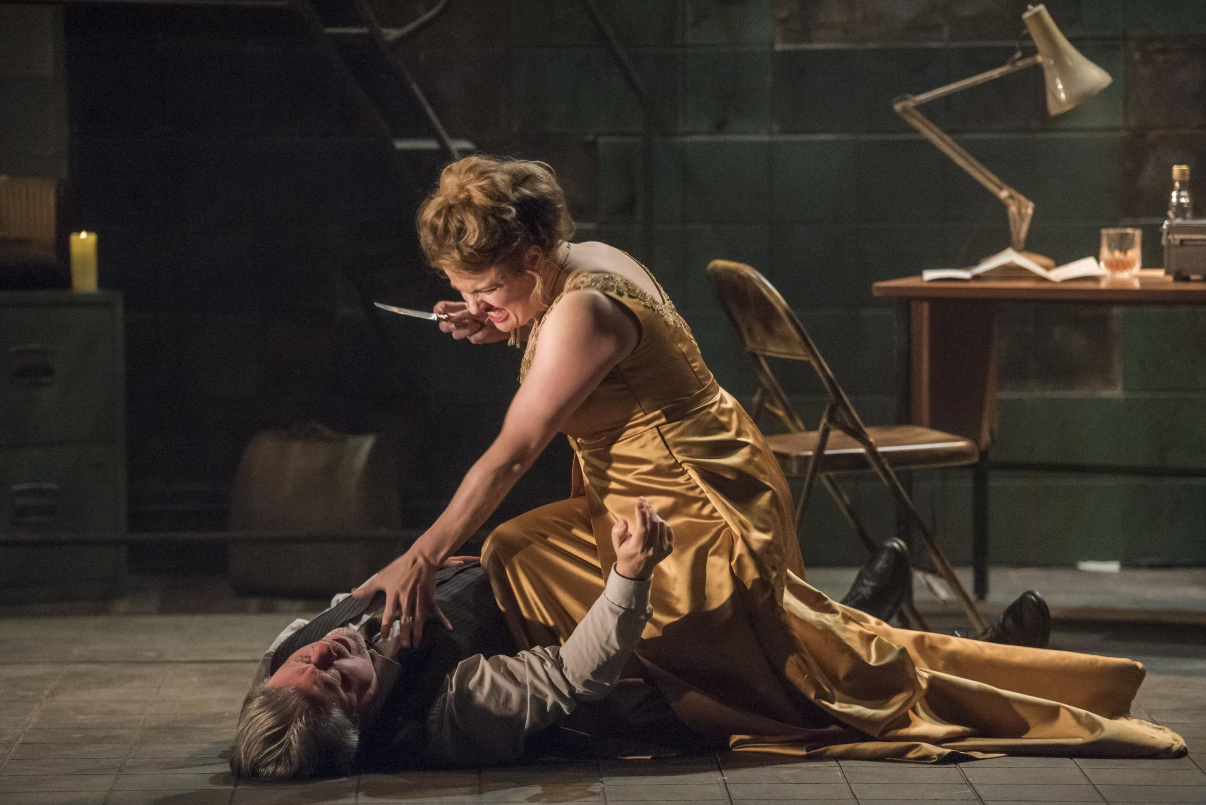 Scarpia meets his end at the hands of Tosca