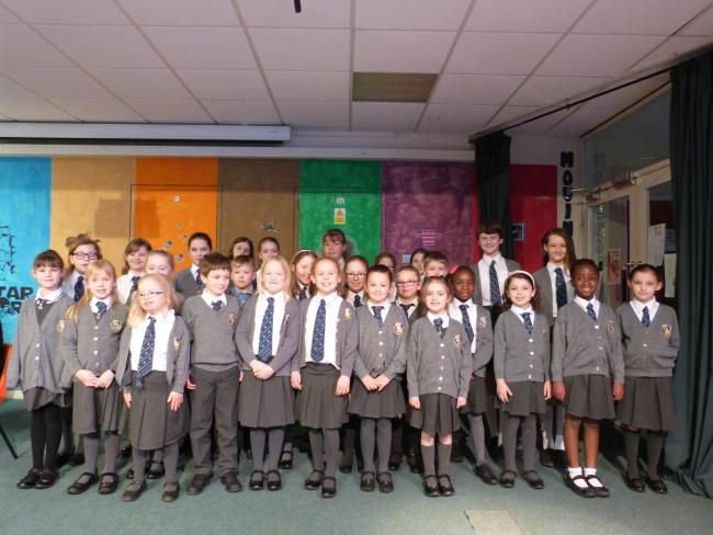 The children from St Paul's School Choir