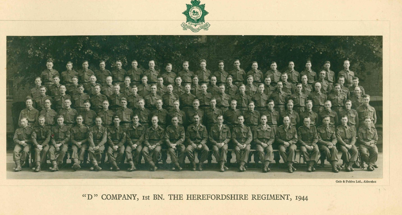 Hereford Regiment's photograph of D Regiment