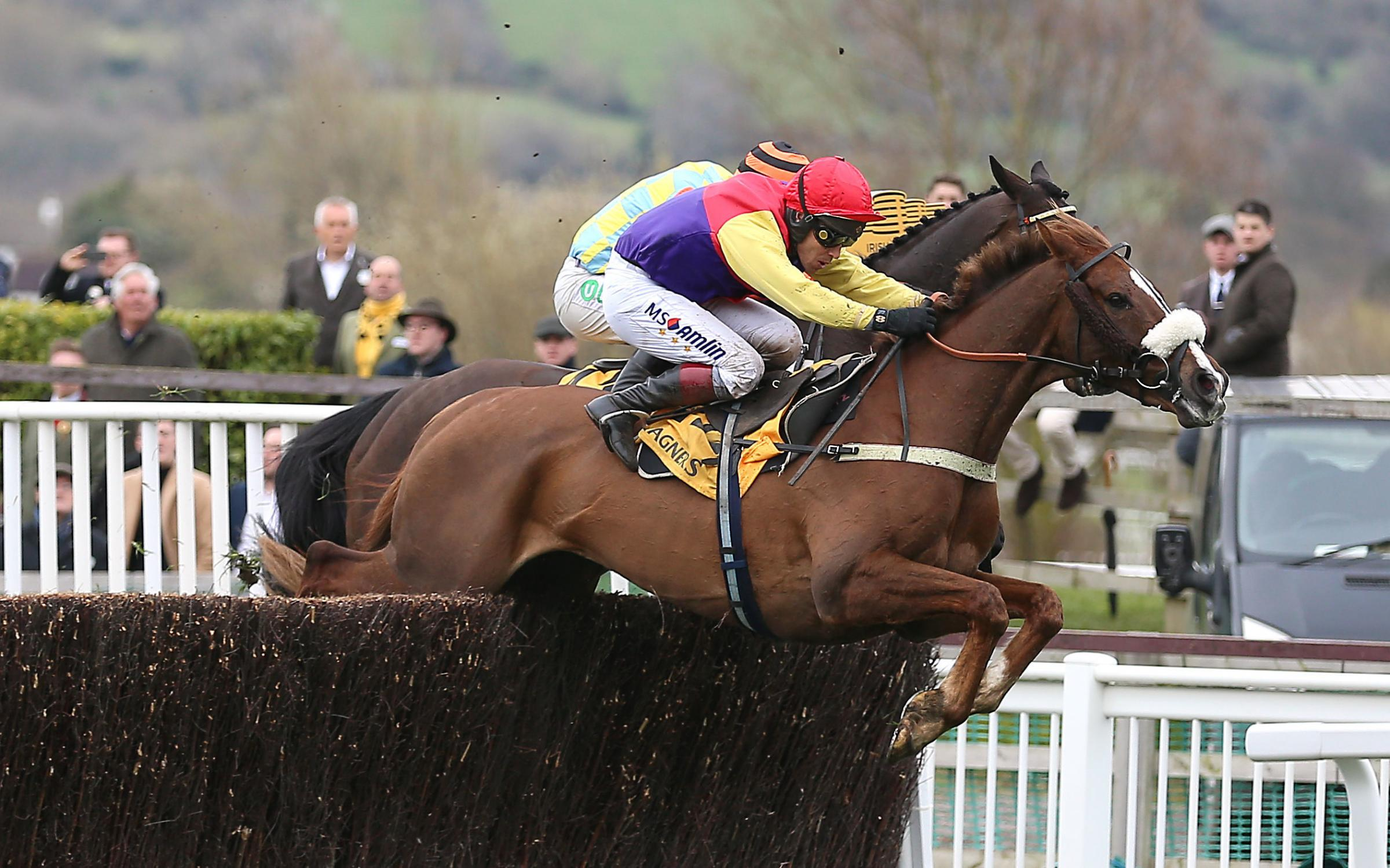 Richard Johnson in action at the Cheltenham Gold Cup. Picture: Nigel French/PA Wire