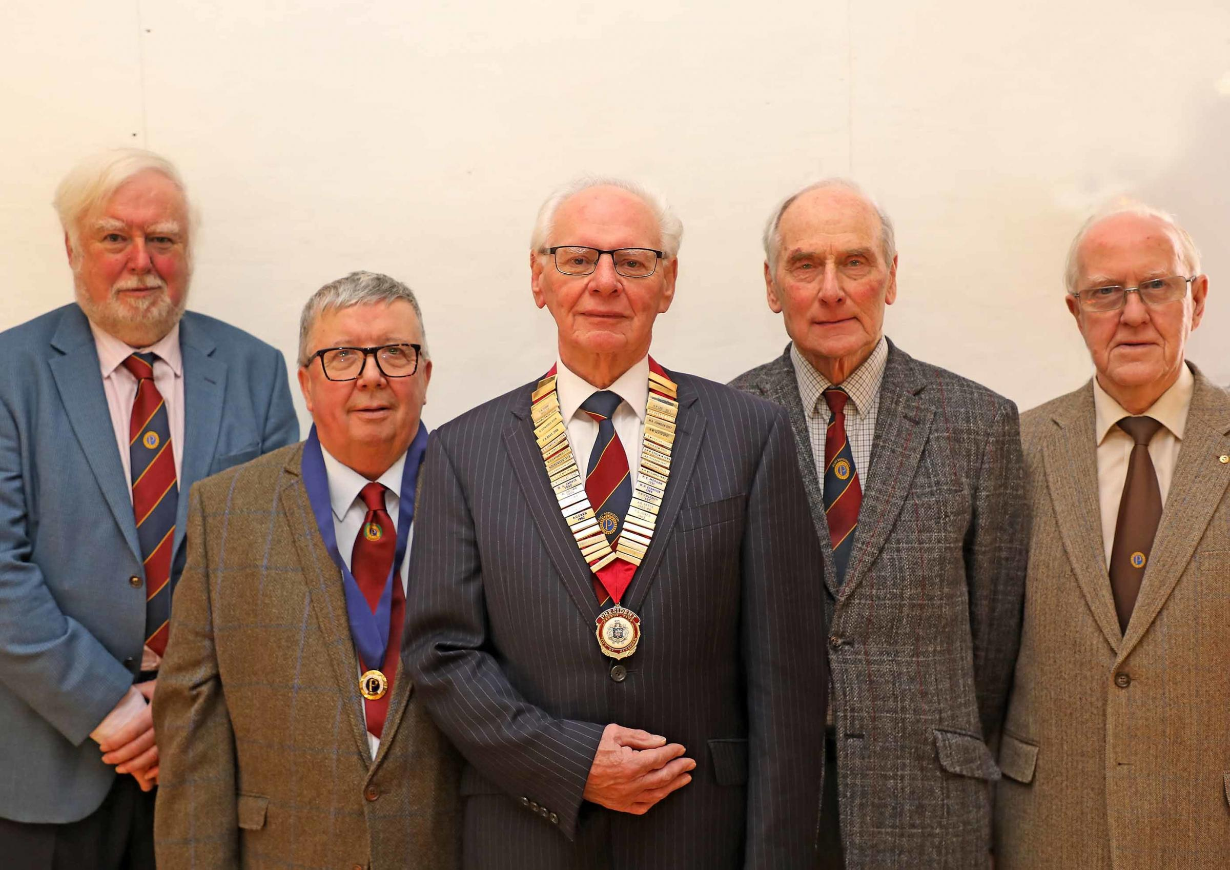 From left: Ted Dowling, Malcolm Jones, Allan Lloyd, Bob Bowden and John Liddle. Photo: Dr Derek Foxton