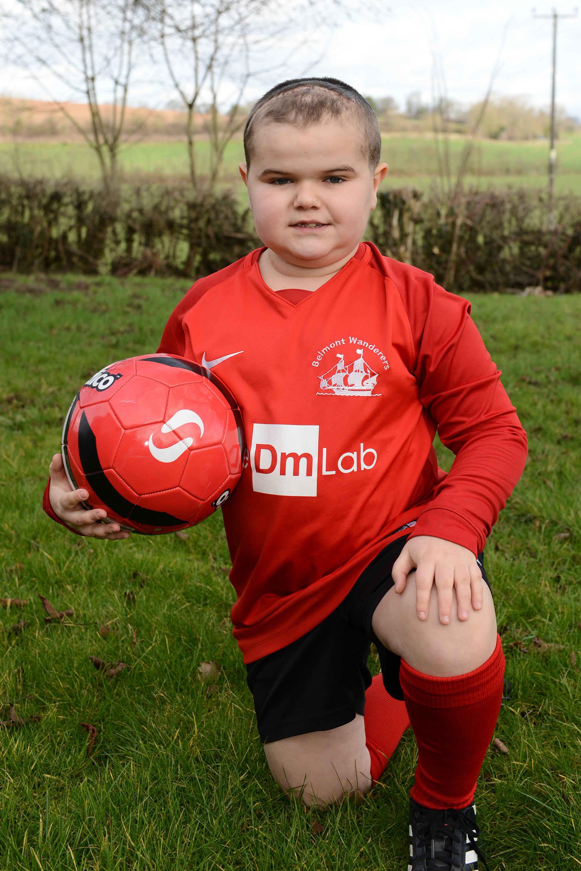 Harry Williams is waiting for proton beam therapy after he was diagnosed with a brain tumour