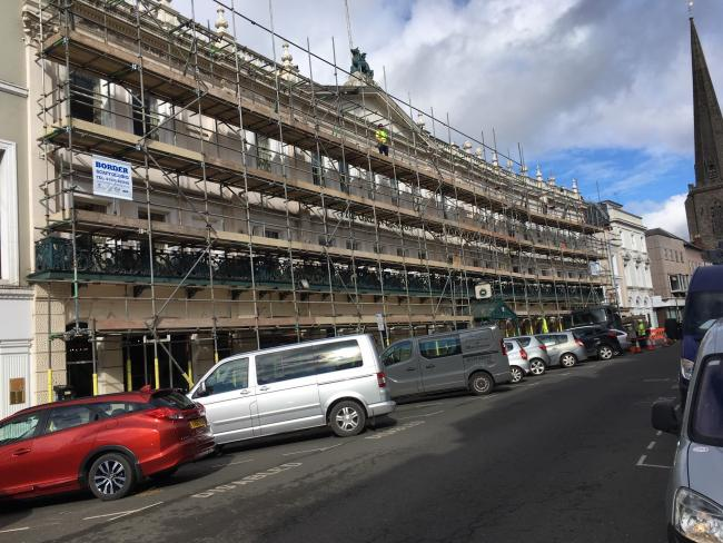 Hereford's Green Dragon Hotel is being refurbished. Photo: Andrew Morris.