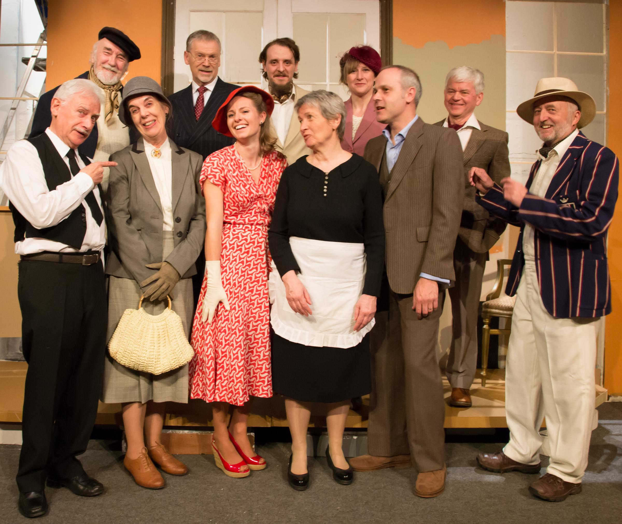 The cast of Phoenix Theatre's production of And Then There Were None