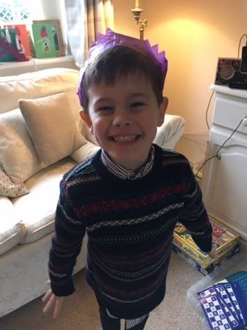 Five-year-old Oscar is receiving treatment for T-cell Acute Lymphoblastic Leukaemia