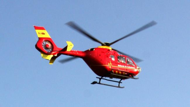 The Midlands Air Ambulance was called to a residential street in Bromyard.