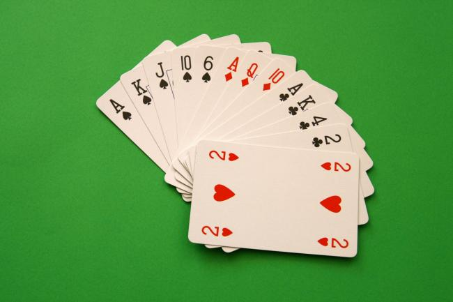 bridge cards.