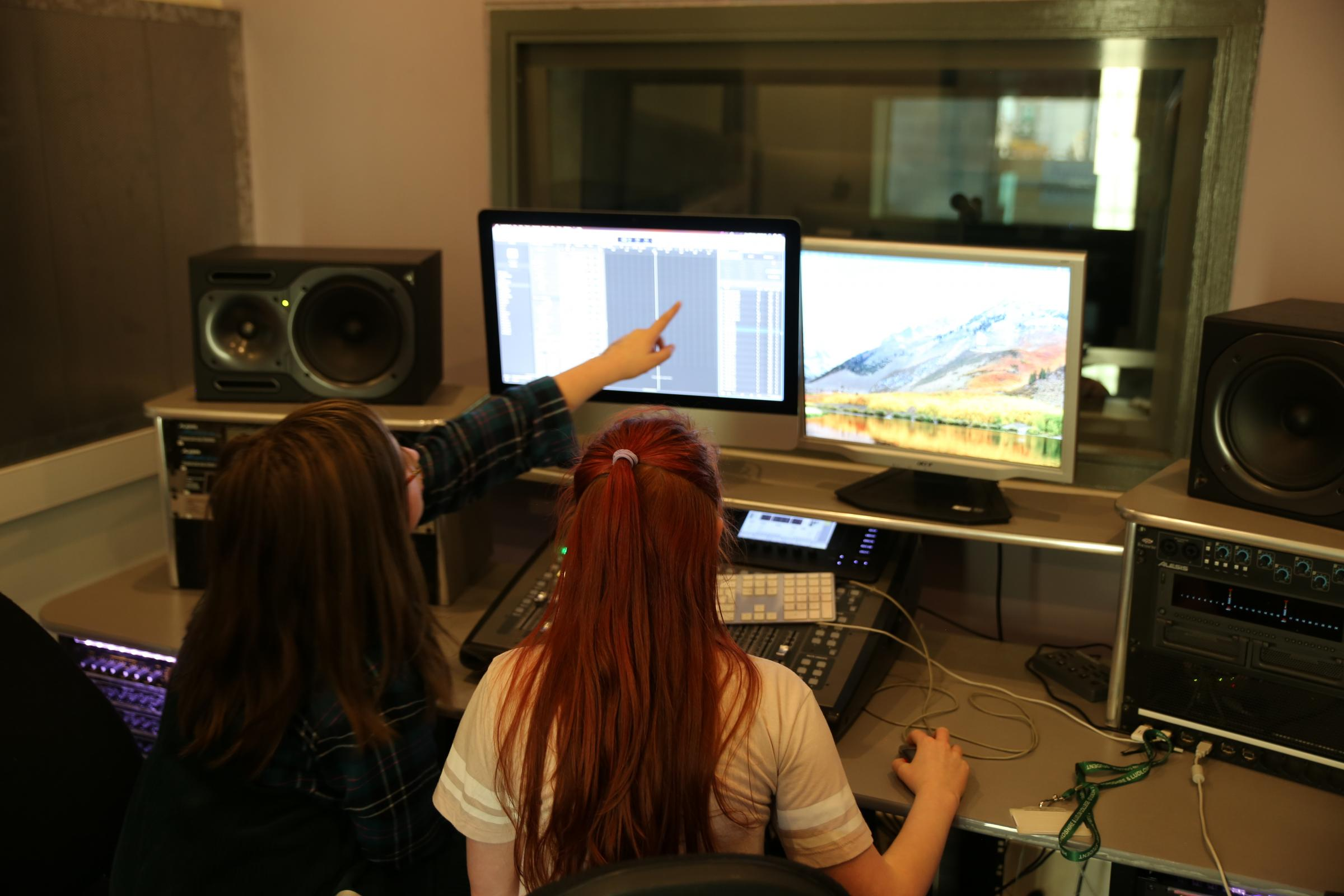 Music students enjoy the comprehensive studio facilities