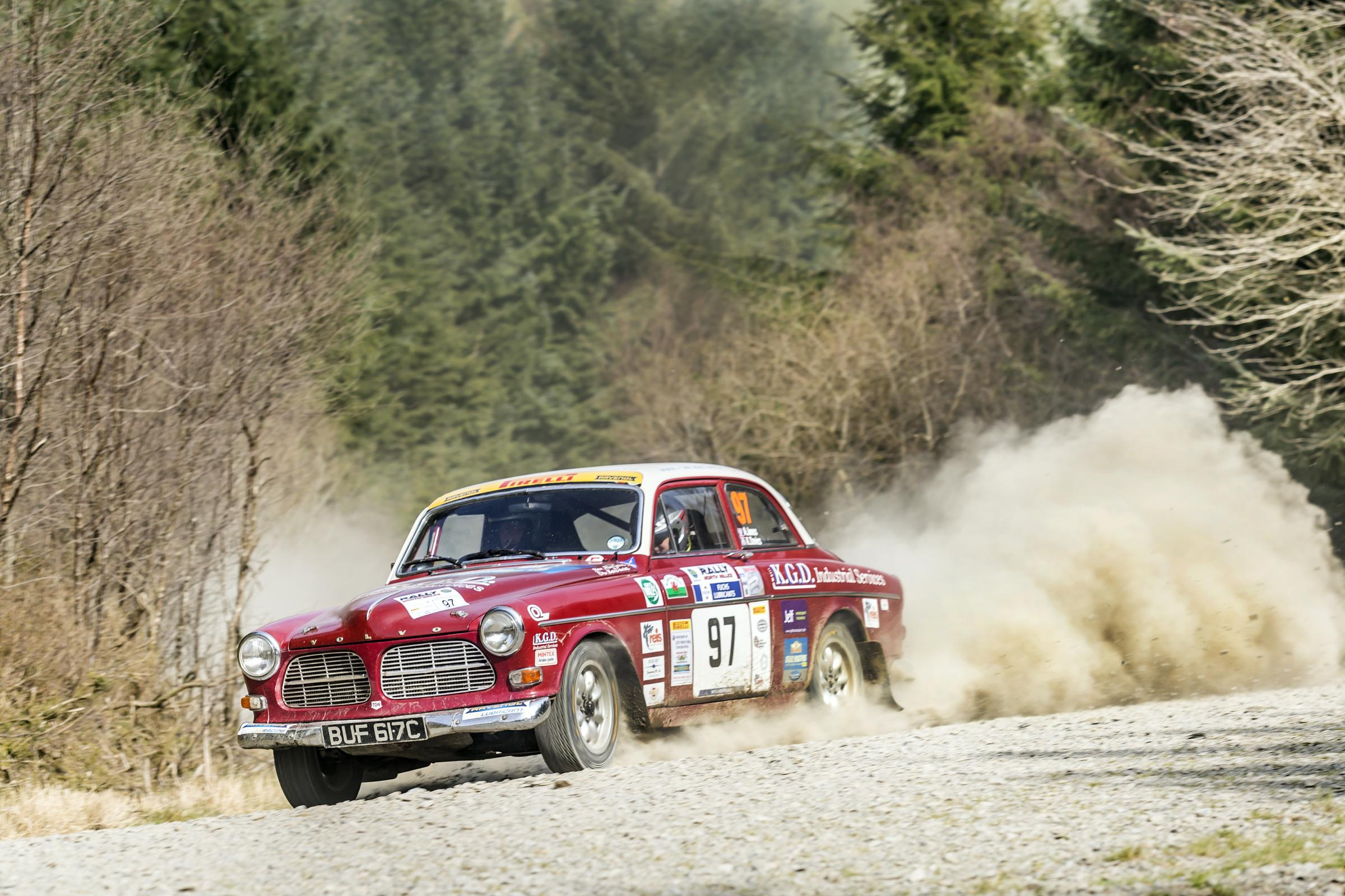 Ken Davies and Alan Jones on their way to class victory in the opening round of the British Historic Rally Championship. Picture: Rhodri Jones