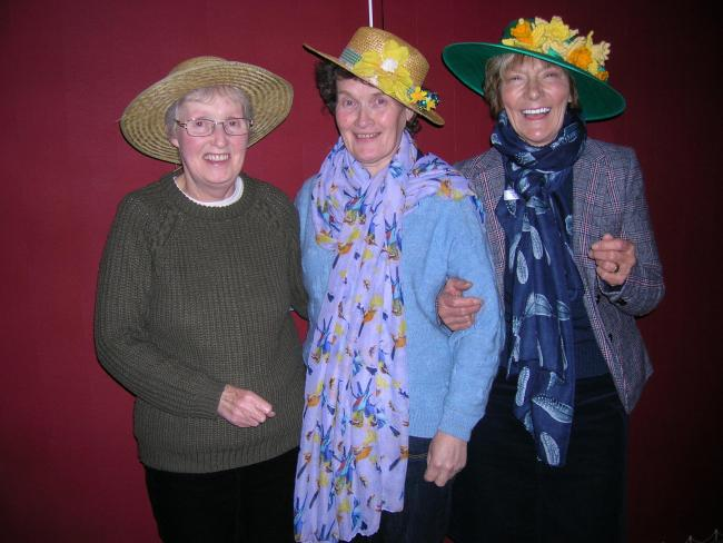 Libby, Ros and Elsie in their Easter bonnets
