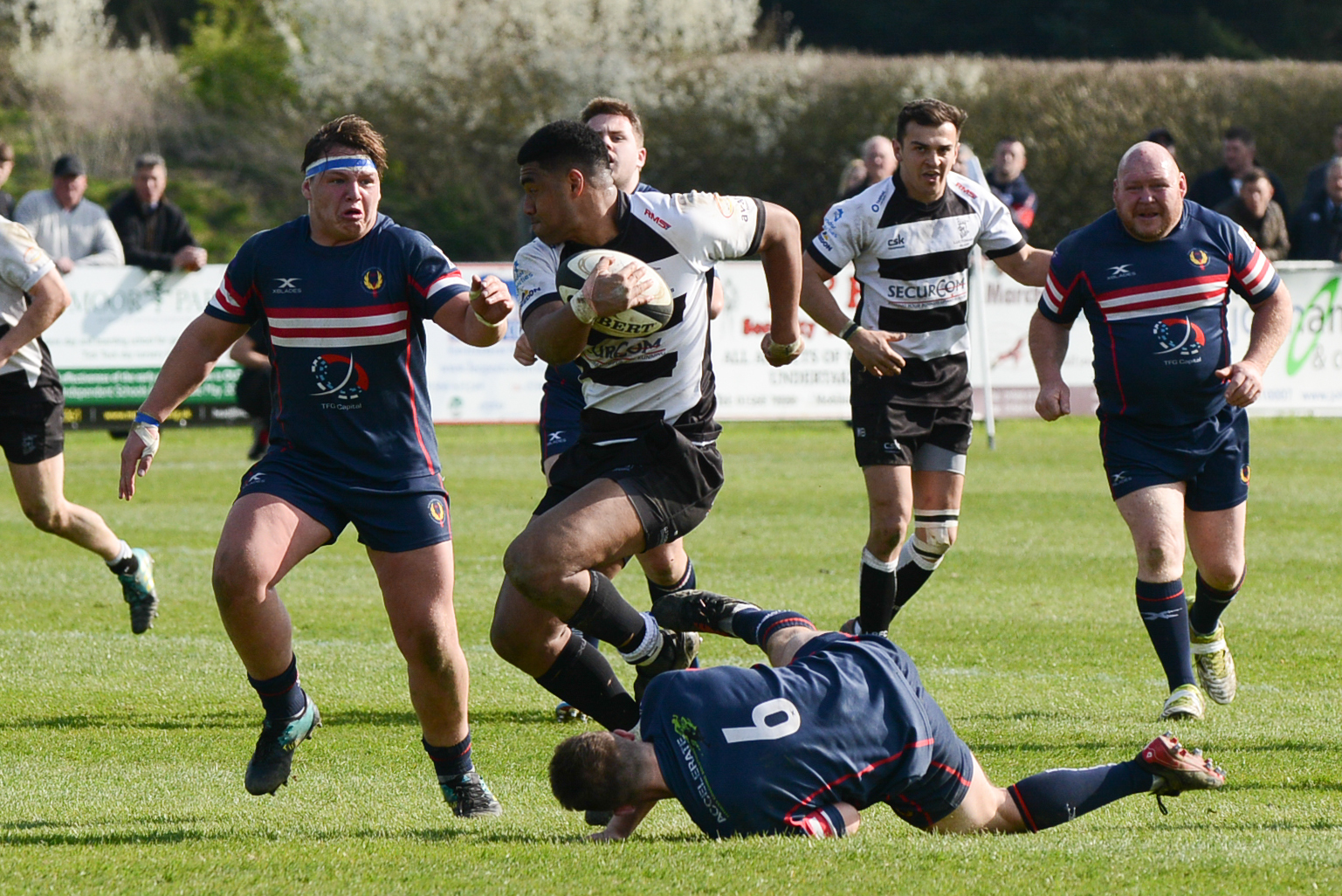 Isaac Fanueli scored a brace of tries for Luctonians against Lichfield (pictured during a previous match)
