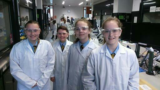 The students who travelled to Birmingham to attend the Salters' Festival of Chemistry