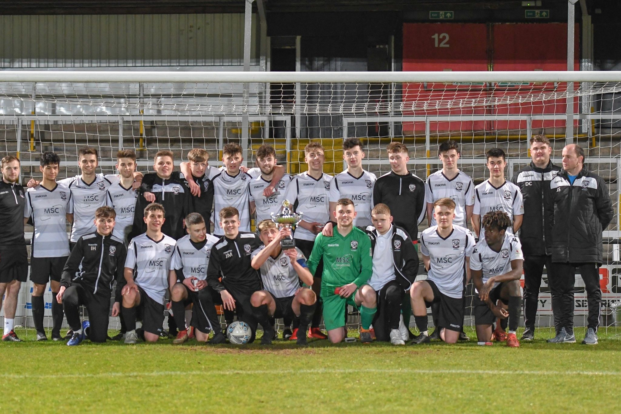 The winning Hereford FC team. Photo: Herefordshire FA / Will Cheshire