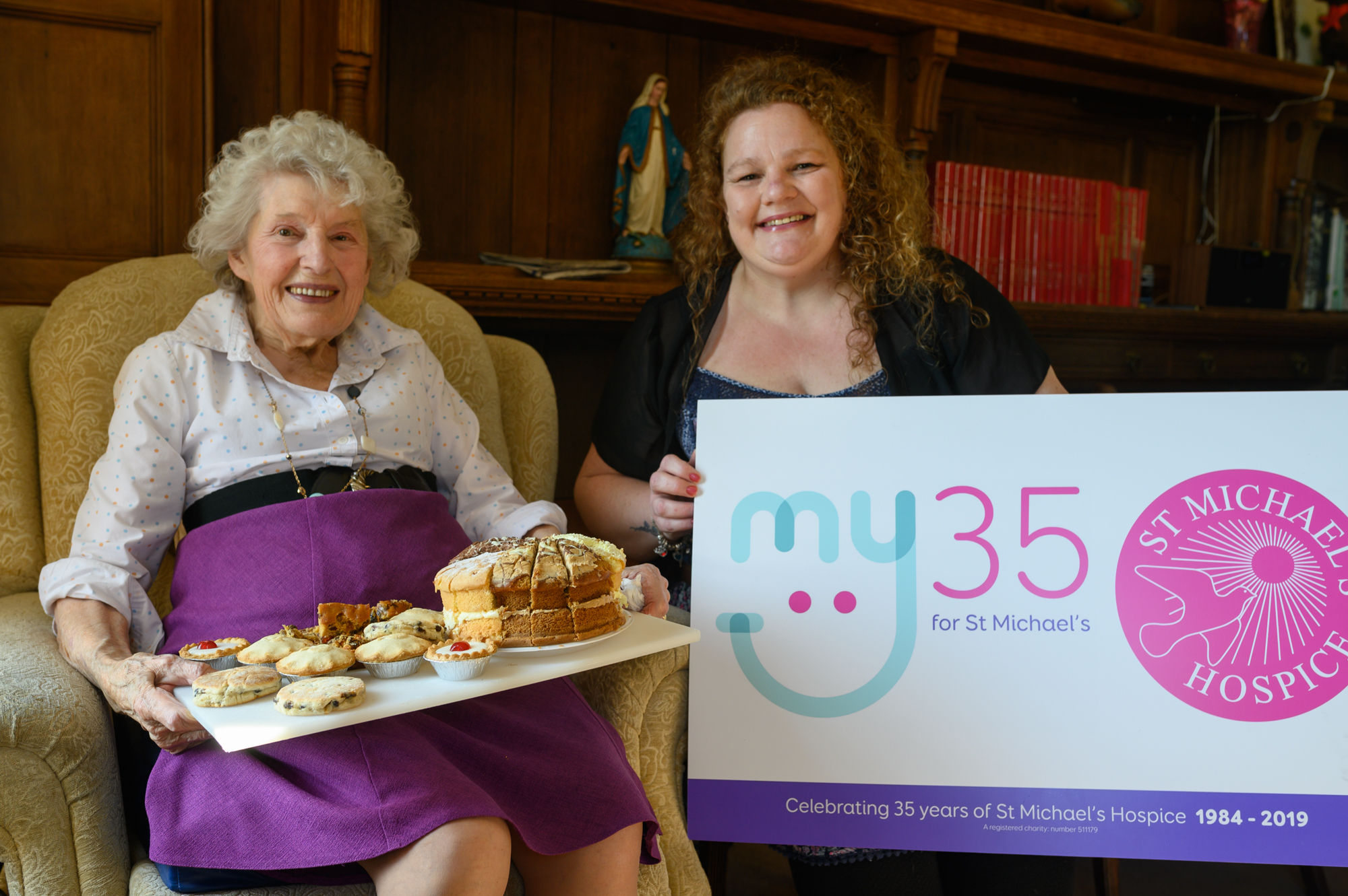 Credenhill Court resident Audrey Green and Mel Woodhouse