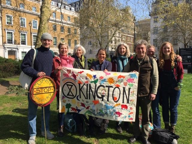 Climate campaigners from Kington have joined the protests in London. Photo by Paul Penrose