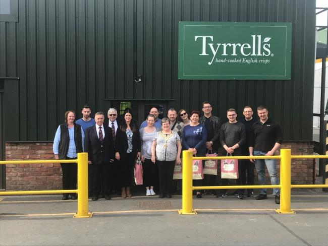 The Polish delegation visited Tyrrells this week