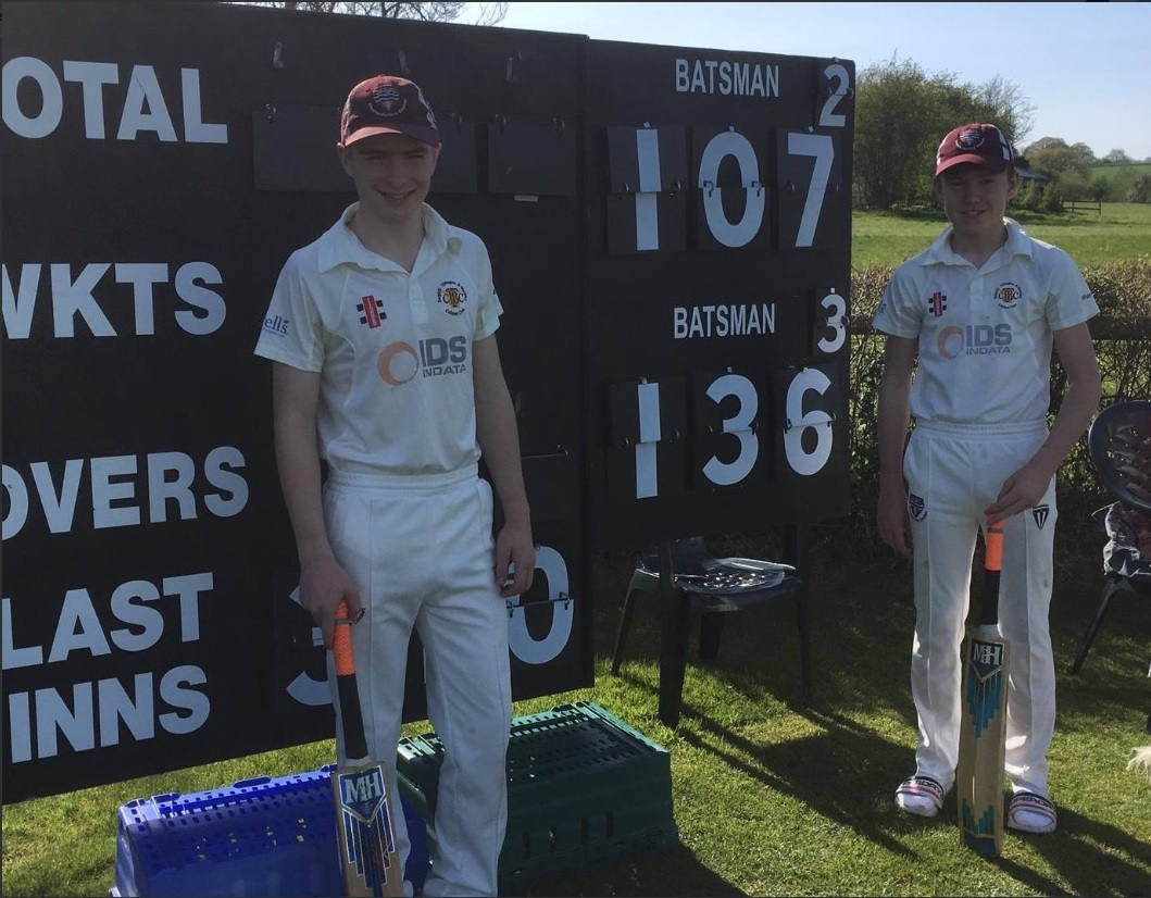 Luke Powell and Harry Sockett put together a partnership of 258 runs