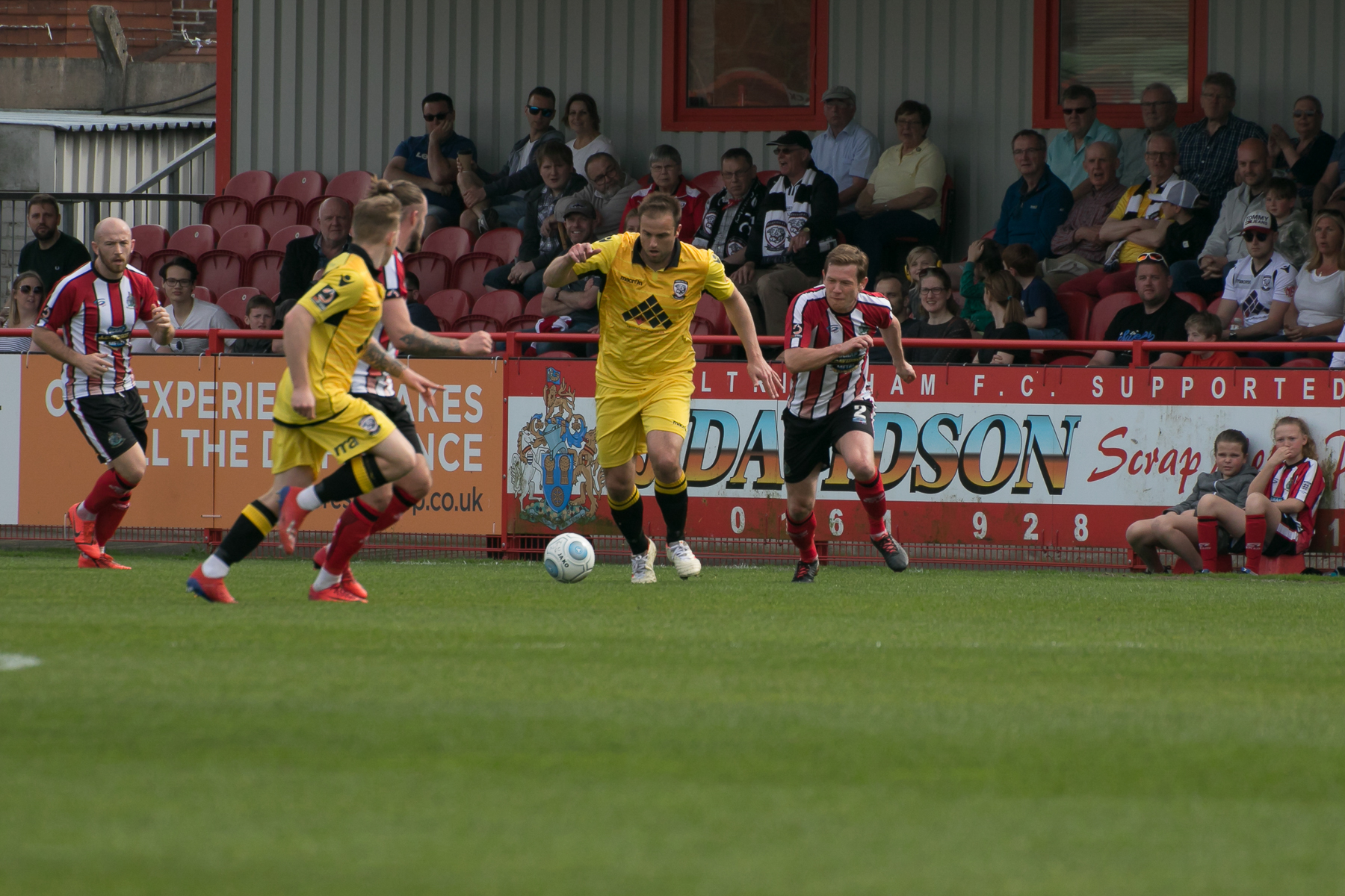 Mike Symons in action against Altrincham. Picture: Andy Walkden/Hereford FC